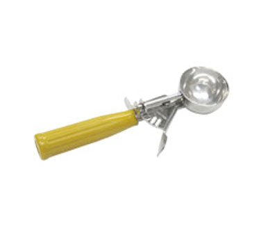 2600-125 #20 Yellow 2½oz disher, standard round bowl