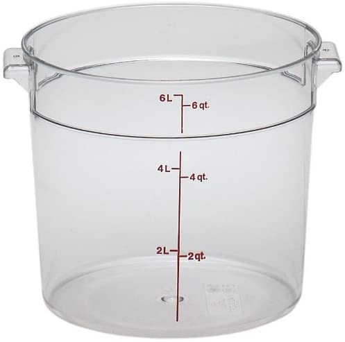 2700-14 Cambro Food Storage Container 6qt Clear Round