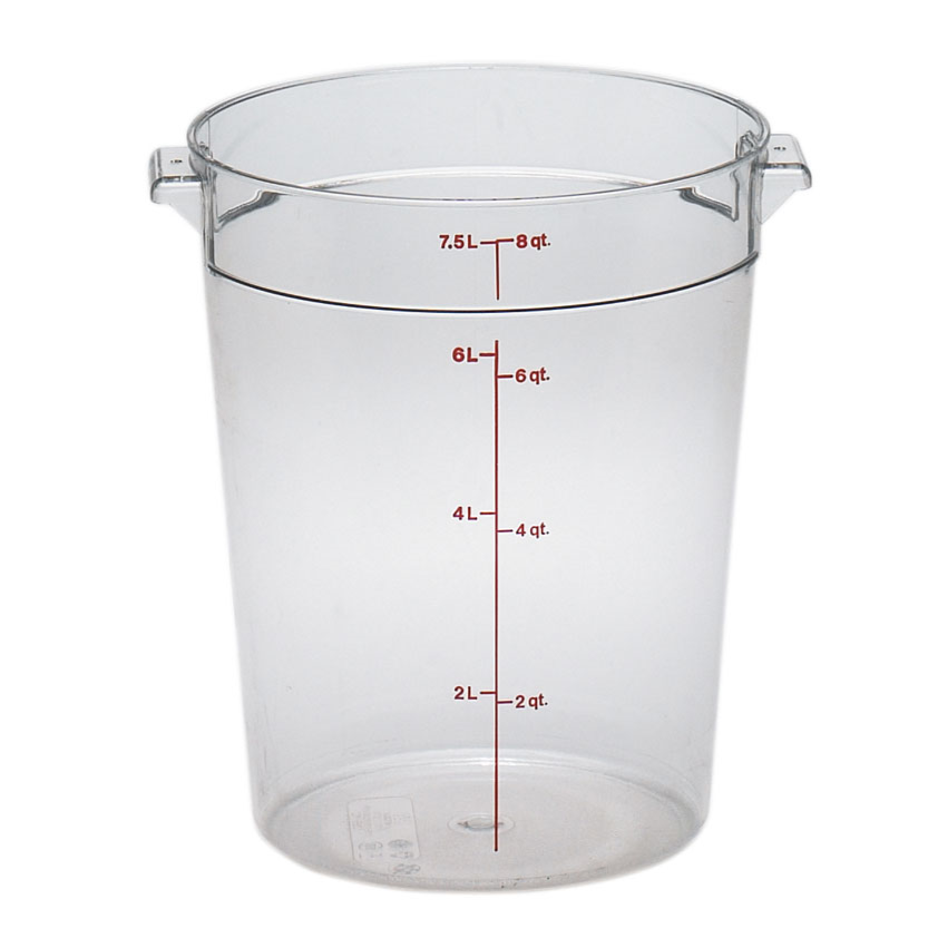 2700-15 Cambro Food Storage Container 8qt Round Clear