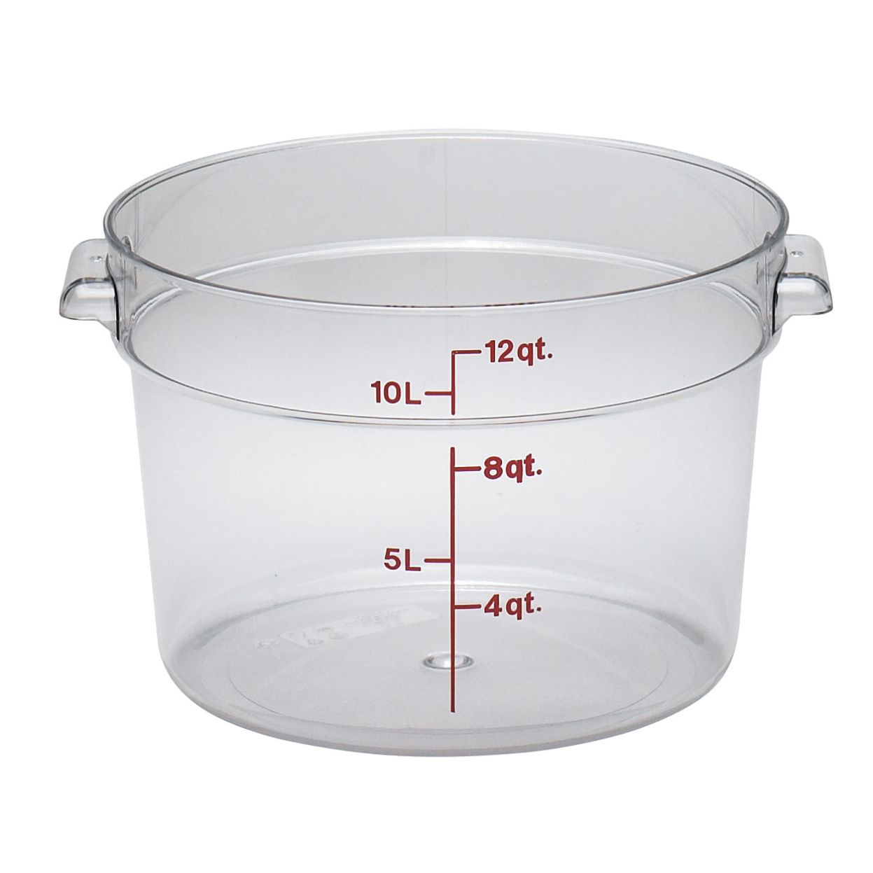 2700-16 Cambro Food Storage Container 12 qt., Round clear