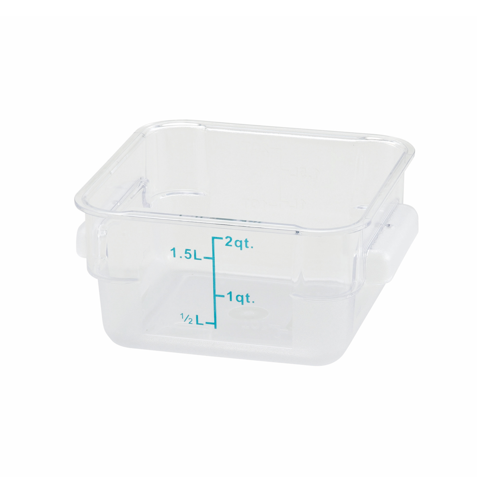 2700-40 Winco Food Storage Container 2qt Square Clear