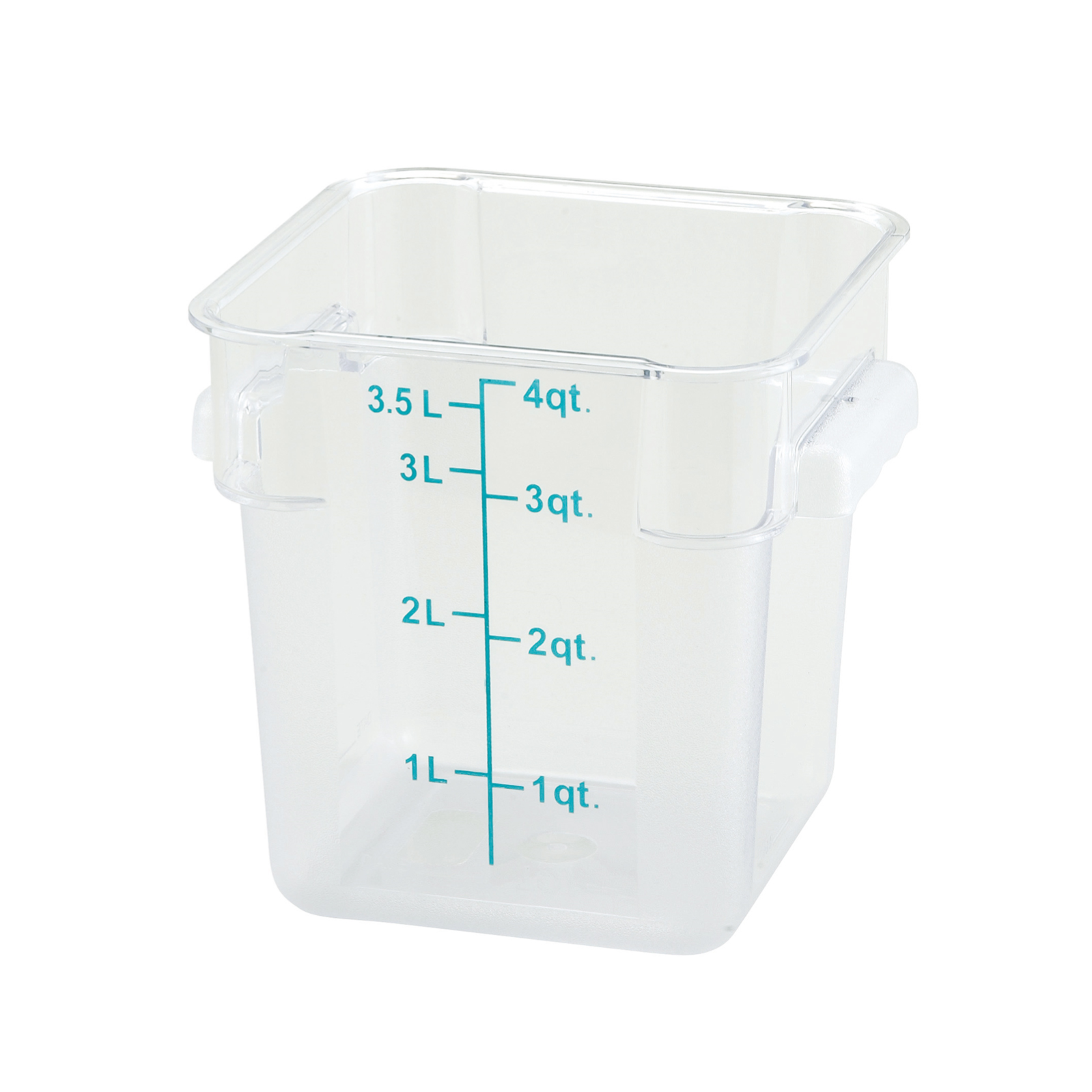 2700-41 Winco Food Storage Container 4qt square Clear