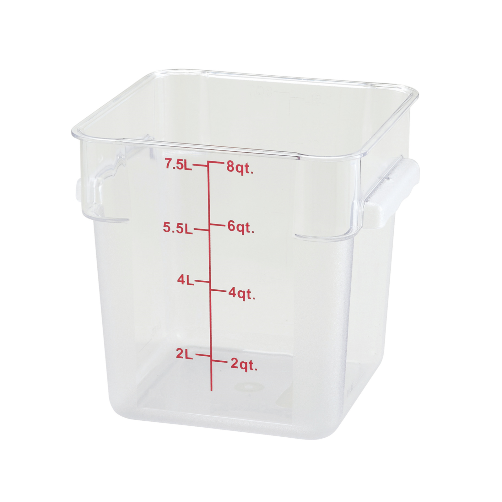 2700-44 Winco Food Storage Container 8qt square clear