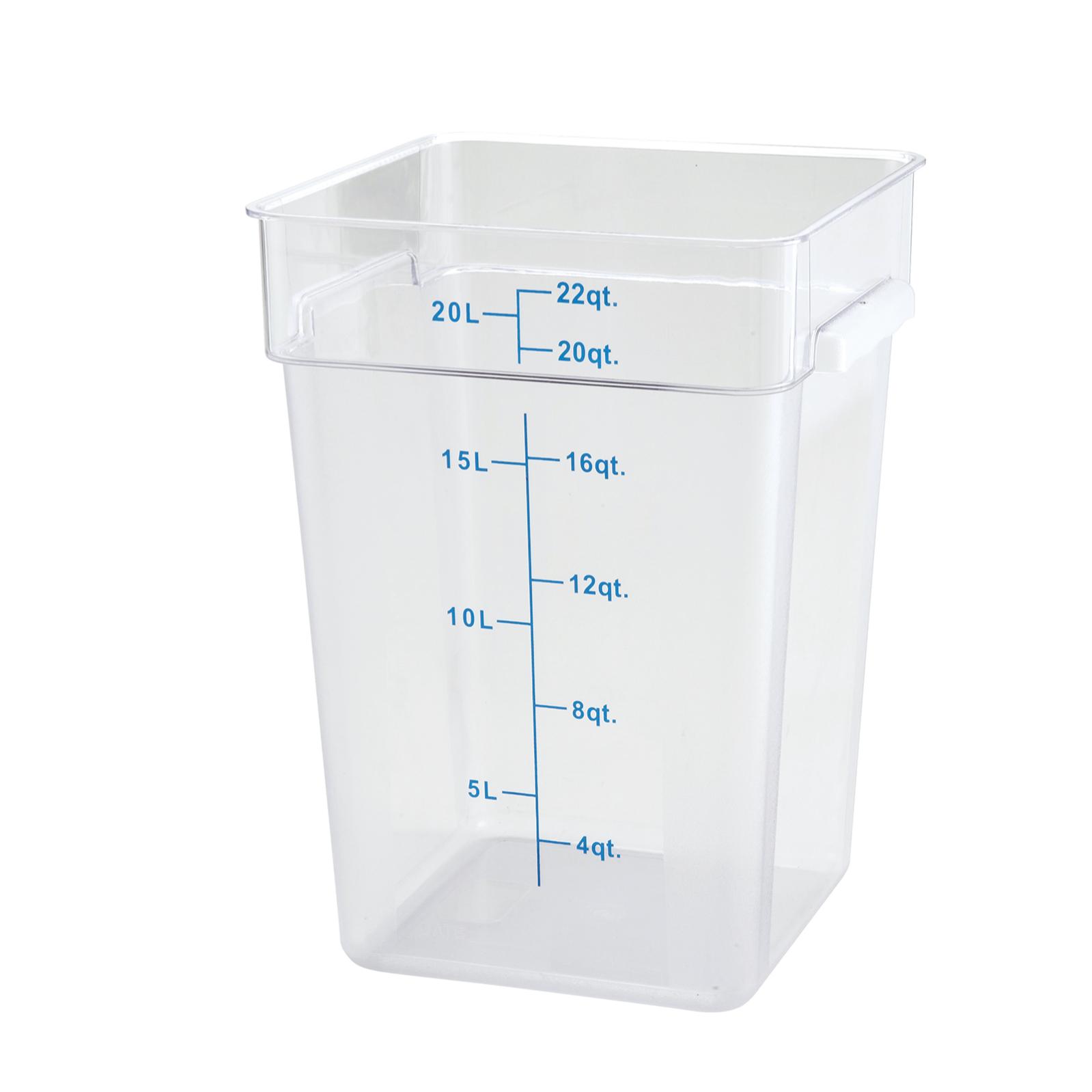 2700-48 Winco 22qt Square Storage Container
