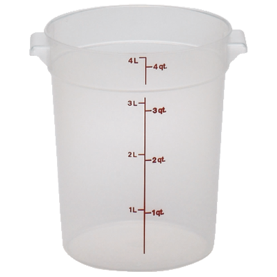 2700-52 Cambro Food Storage Container 4qt round trans