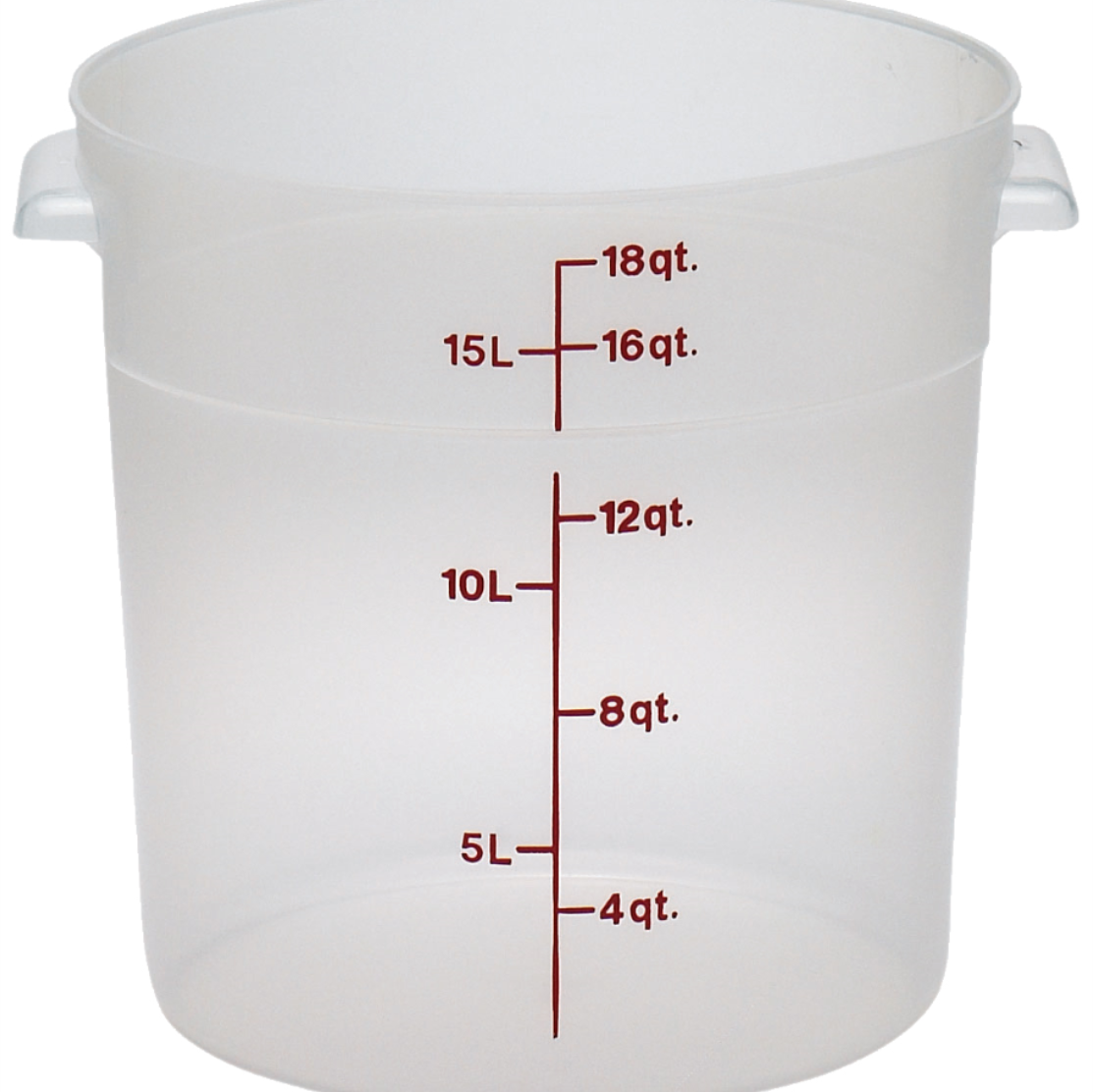 2700-56 Cambro Food Storage Container 18qt rnd translucent