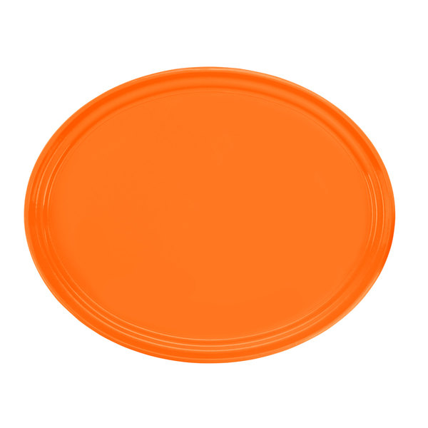 3150-120 Hooter's 27in Orange Oval Tray