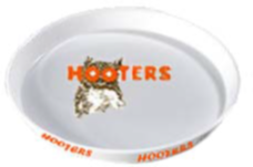 3150-50 DZ Hooters Oyster Tray White Dz