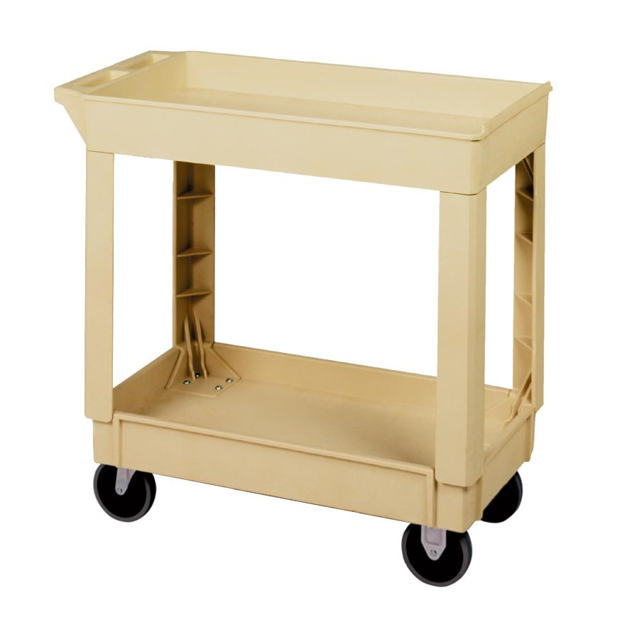 3600-035 Beige Utility Cart 2-shelves LG