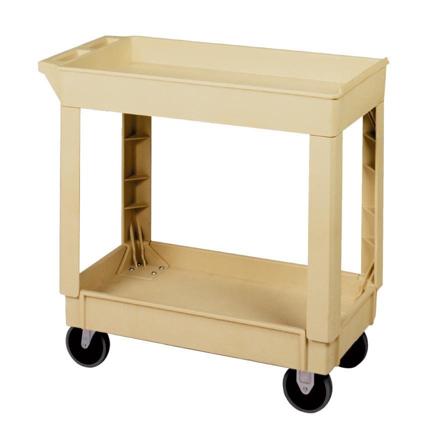 3600-035 Beige Utility Cart 2-shelves LG