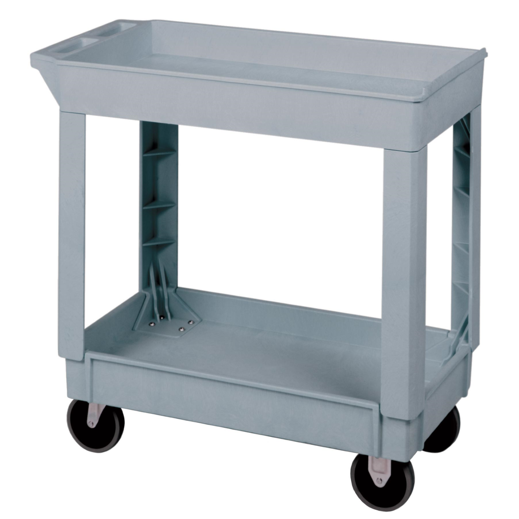 3600-02 Gray 2 shelf Utility Cart
