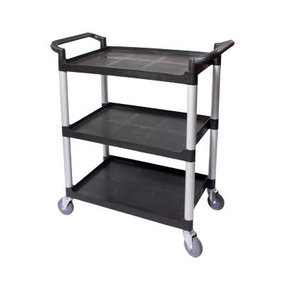 3600-10 Crestware Cart, Utility Transport, Plastic 3 Tier