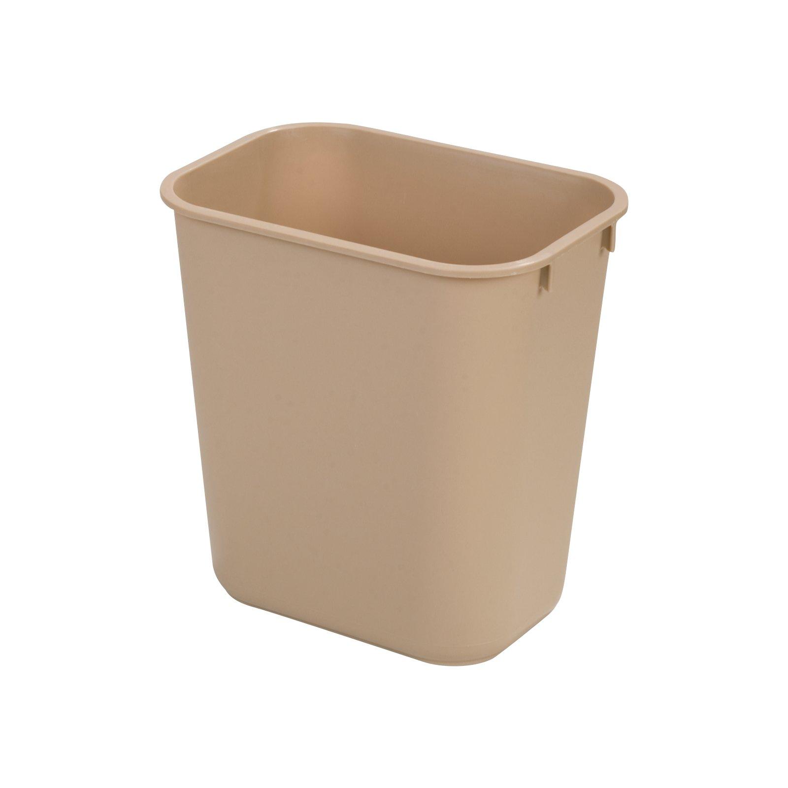 3700-50 Carlisle 28qt Beige Waste Basket, Plastic
