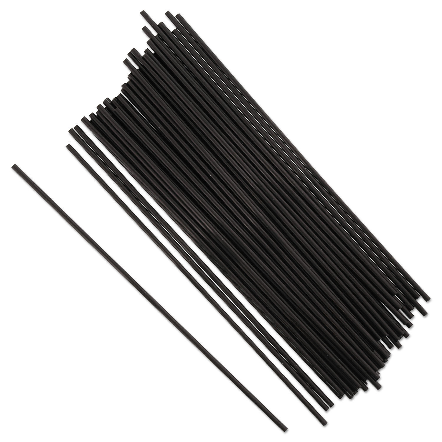 3900-38 STIR STICKS BLACK PLASTIC 8
