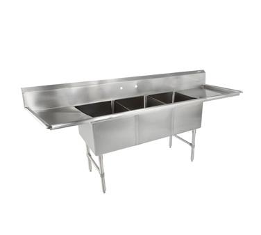 3B18244-2D18 John Boos sink, (3) three compartment