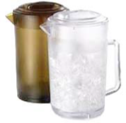 4000-190 GET Enterprises Pitcher 64oz Amber W/lid
