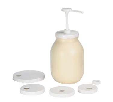2050-10 TableCraft 662K condiment syrup pump w/asst lids