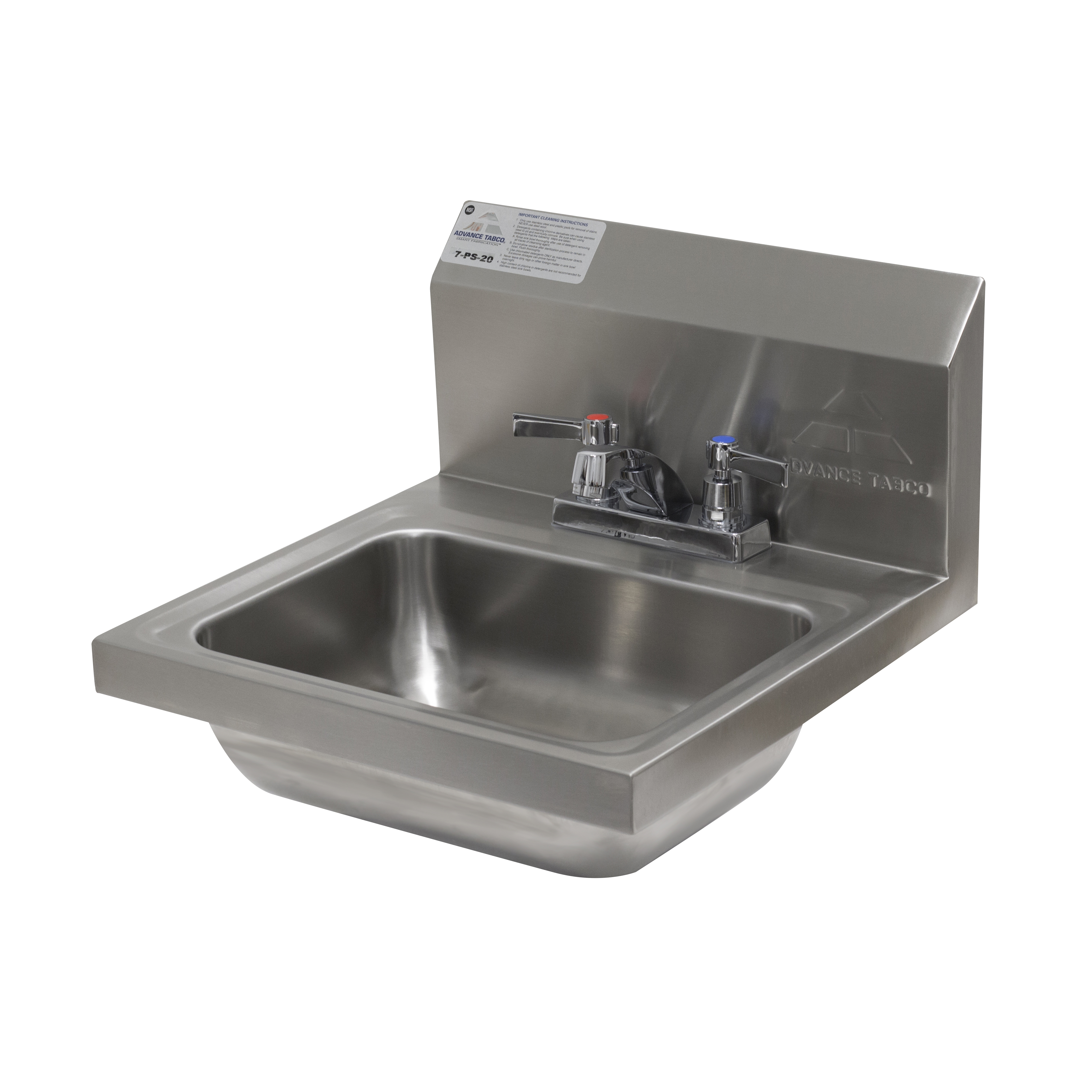7-PS-20-1X Advance Tabco 1X sink, hand
