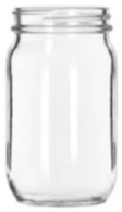 92104 Jackson & Associates Inc Libbey Drinking Jar 8 Oz