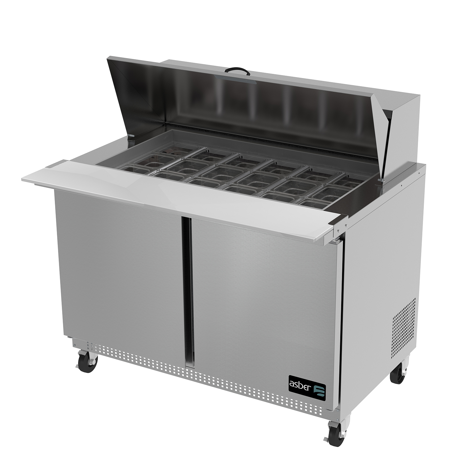 APTM-48-18 Asber refrigerated counter, mega top sandwich / salad unit