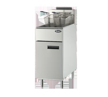 ATFS-50 Atosa USA fryer, gas, floor model, full pot