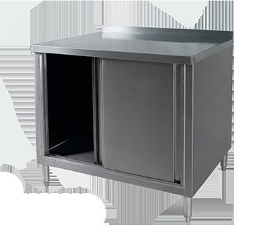 BCBM-2472 Klinger's Trading work table, cabinet base sliding doors
