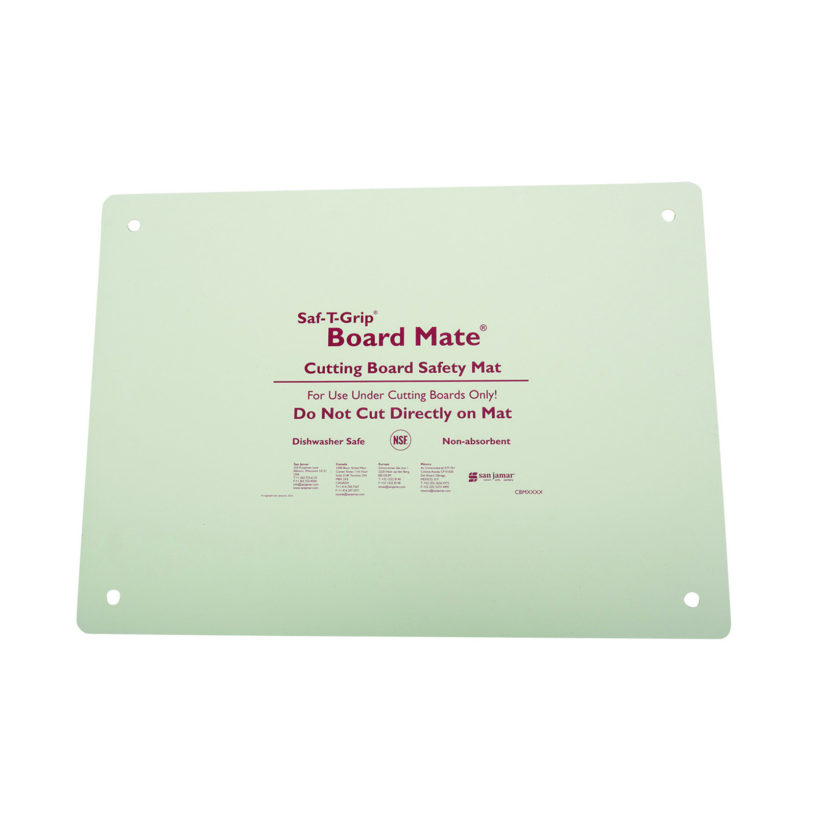 1700-1622 San Jamar CBM1622 cutting board mat