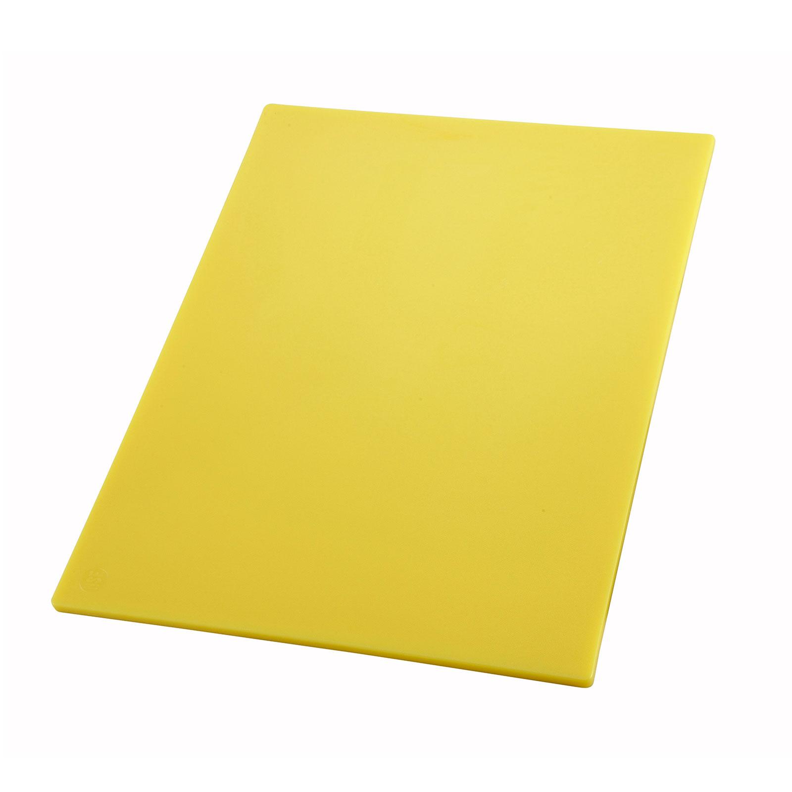 1700-110 Winco CBYL-1824 cutting board, plastic