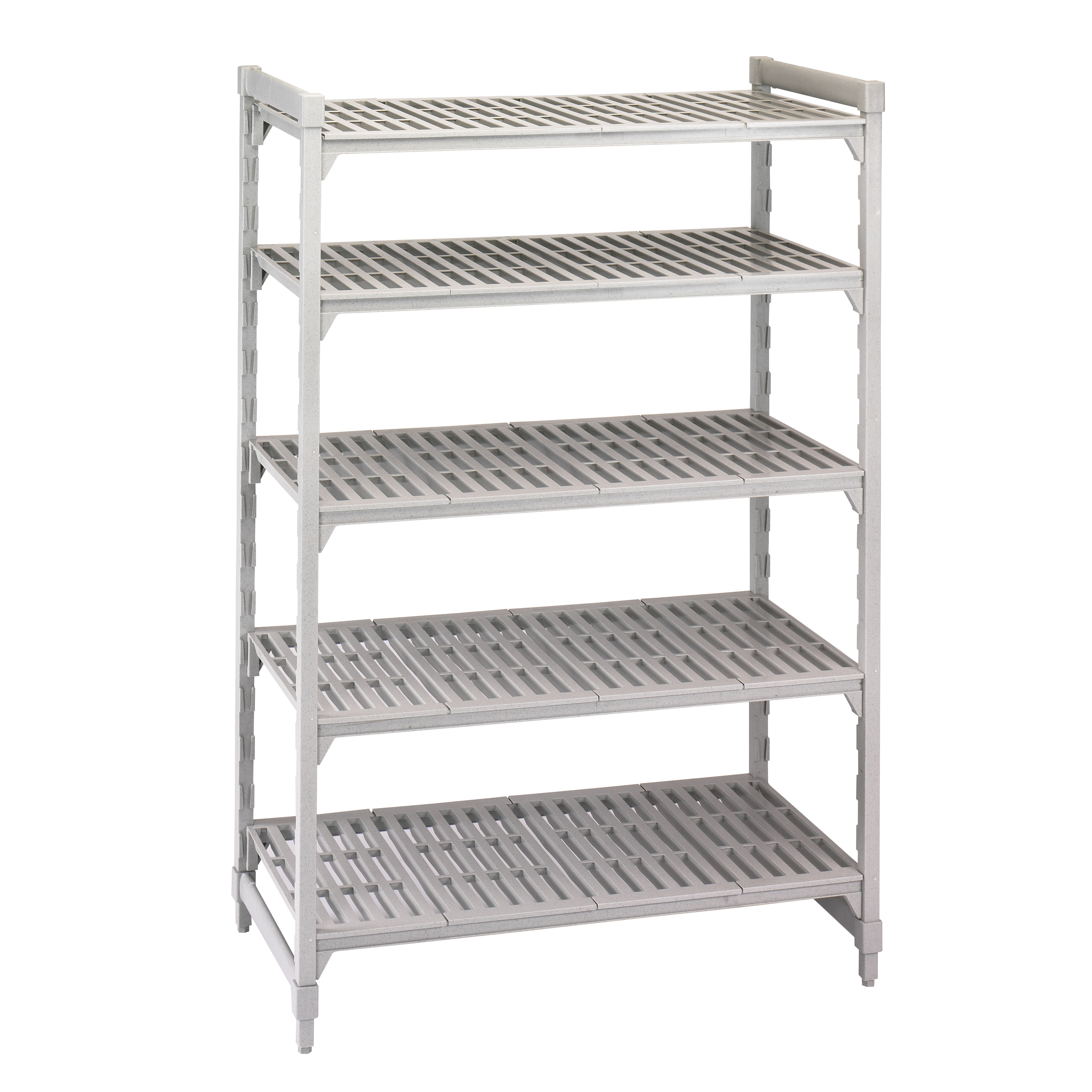 CPU247272V5PKG Cambro shelving unit, plastic with poly exterior steel posts