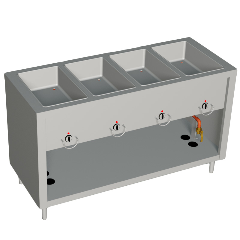 E304-25SS Duke Manufacturing serving counter, hot food, electric