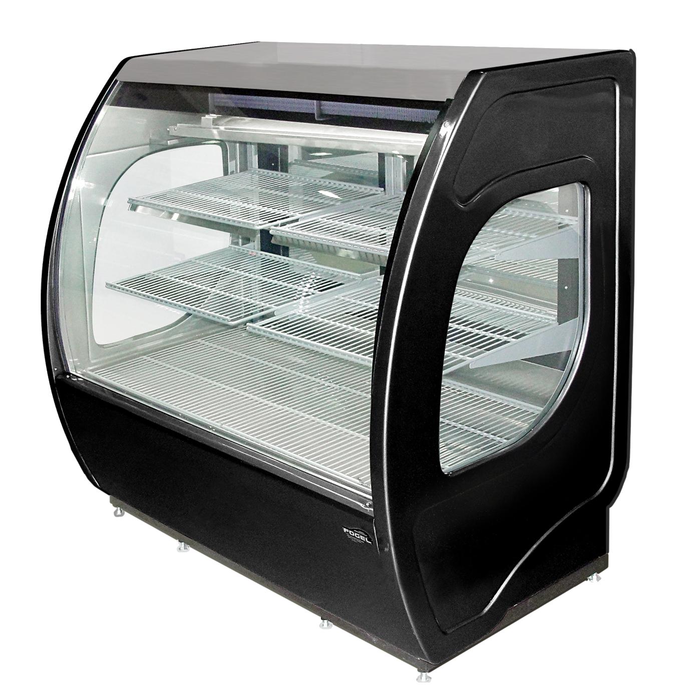 ELITE-4-DC-B Fogel USA display case, refrigerated deli