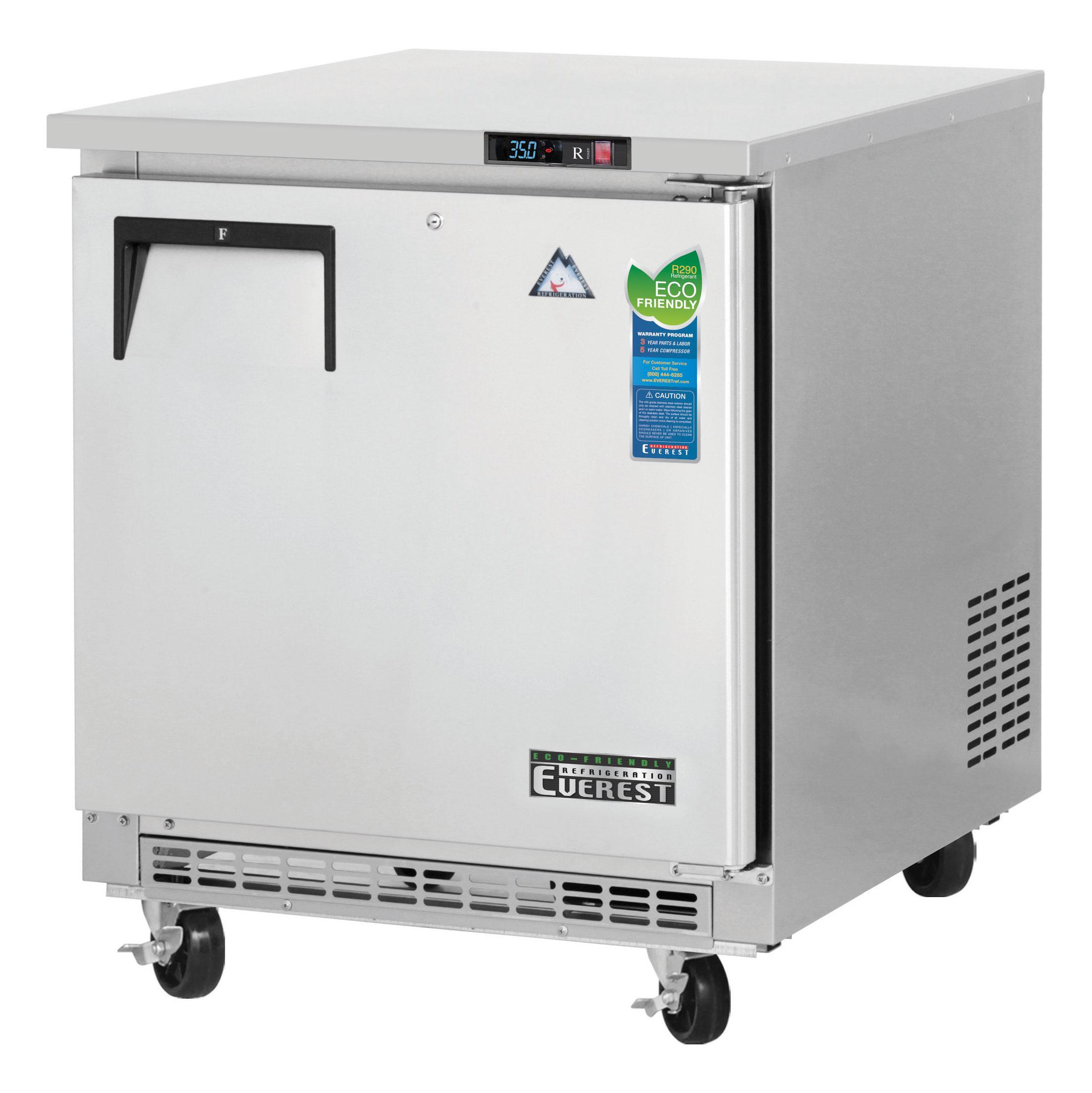 ETBR1 Everest Refrigeration refrigerator, undercounter, reach-in