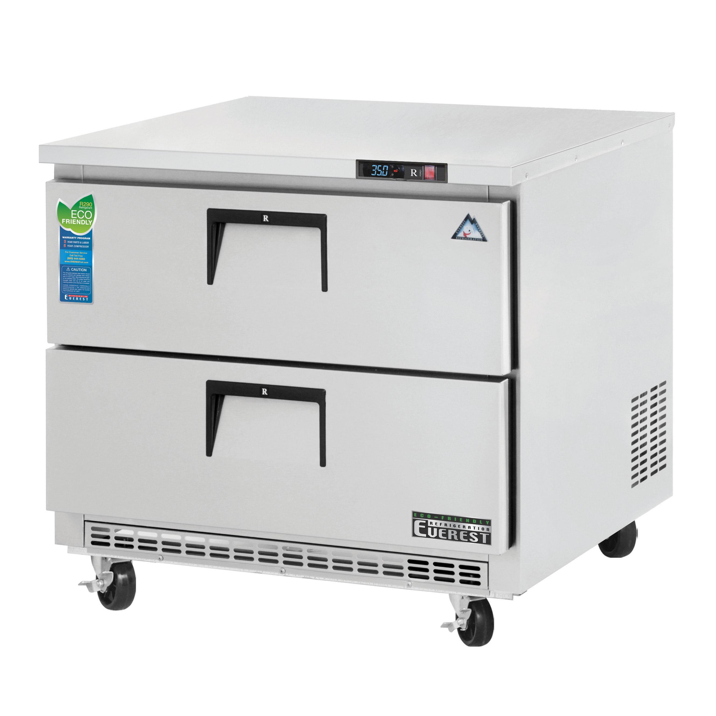 ETBSR2-D2 Everest Refrigeration refrigerator, undercounter, reach-in