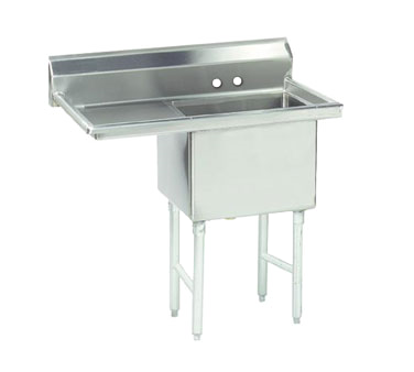 FC-1-1818-24L-X Advance Tabco sink, (1) one compartment