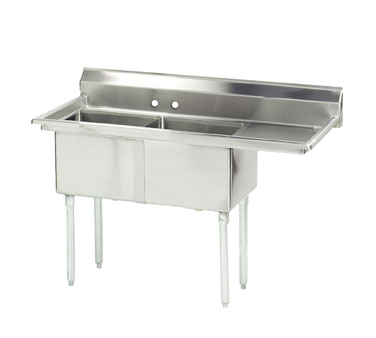 FE-2-1812-18R-X Advance Tabco sink, (2) two compartment