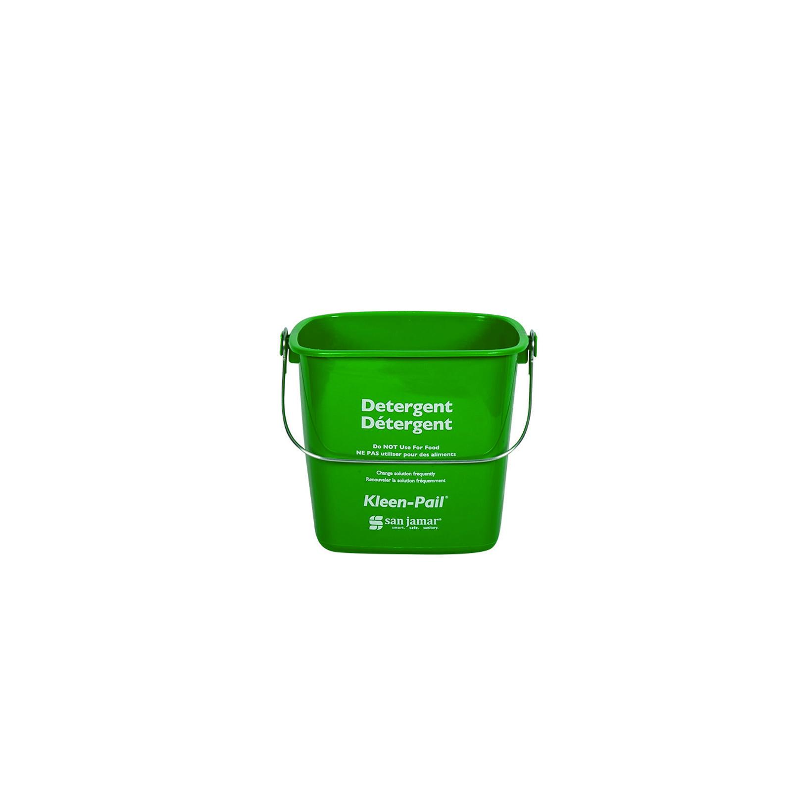 3700-74 San Jamar KP196GN bucket Green 6qt