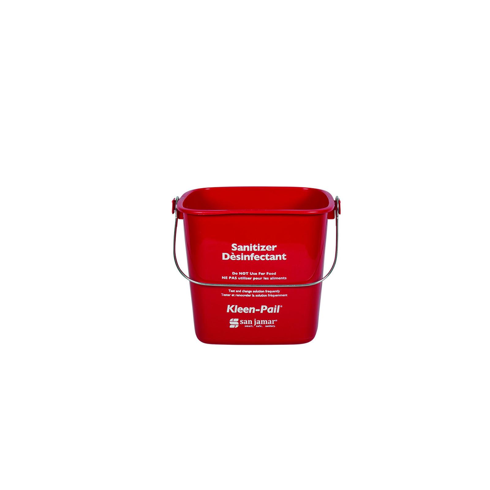 3700-72 San Jamar KP256RD bucket Red 8qt