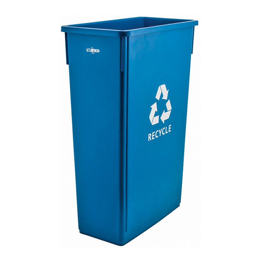 PTC-23L Winco recycling receptacle / container, plastic