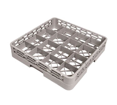 3850-60 Crestware RBC16 dishwasher rack, glass compartment