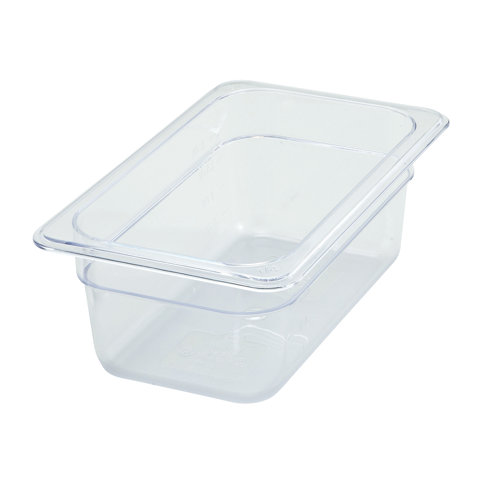 2410-030 Winco SP7404 food pan, 1/4 size 4in D, plastic