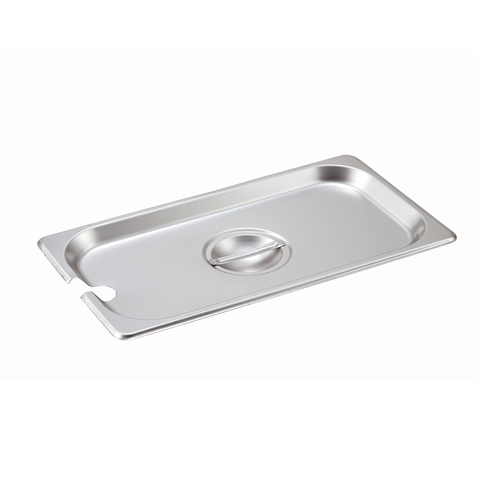 2400-126 Winco SPCT steam table pan cover, stainless steel