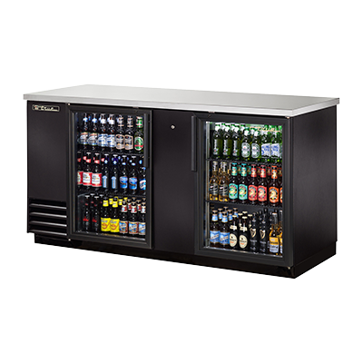 TBB-3G-HC-LD True Manufacturing Co., Inc. back bar cabinet, refrigerated