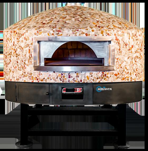Univex Dome 59RT - Round Top stone hearth rotating pizza oven