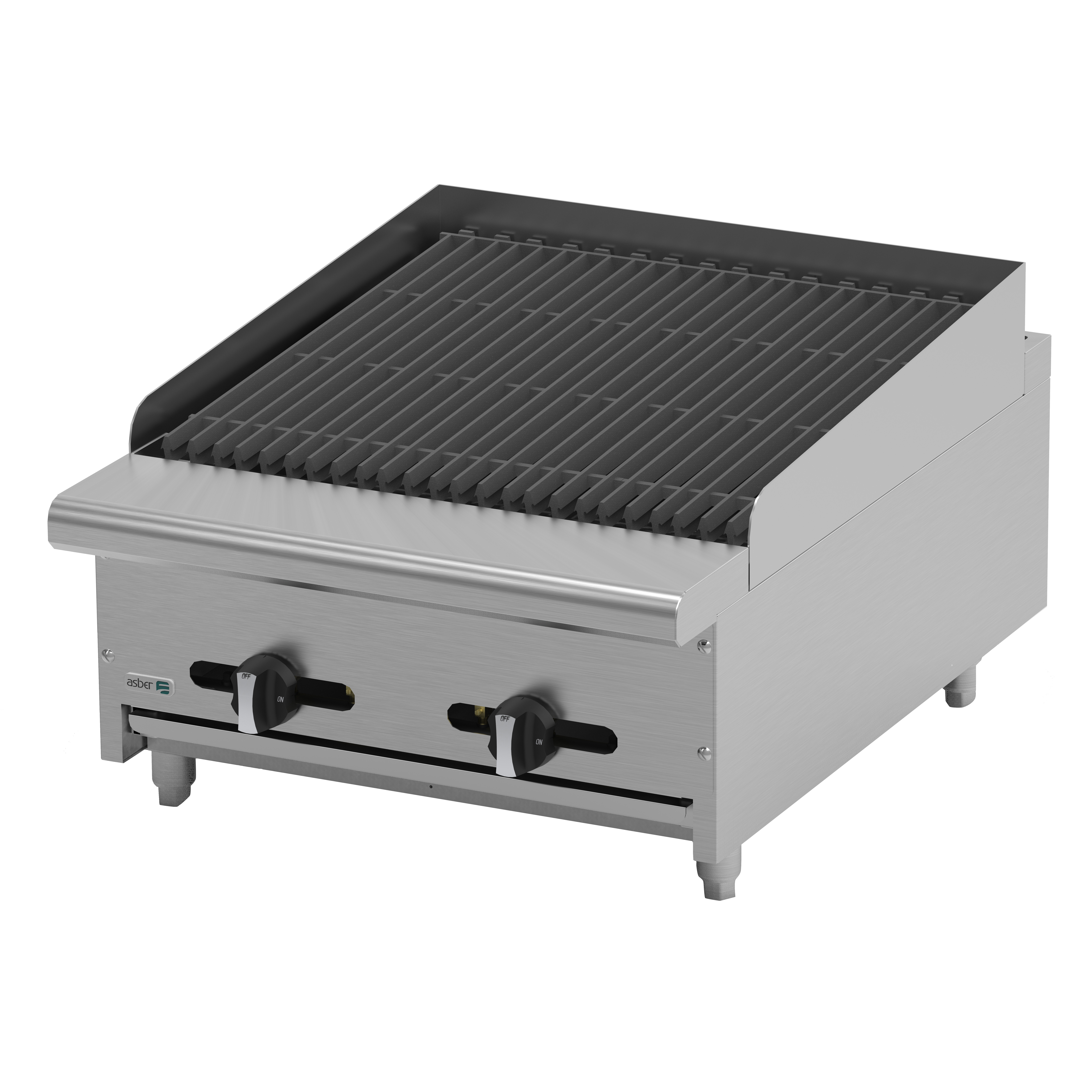 Asber AECRB-24 charbroiler, gas, countertop