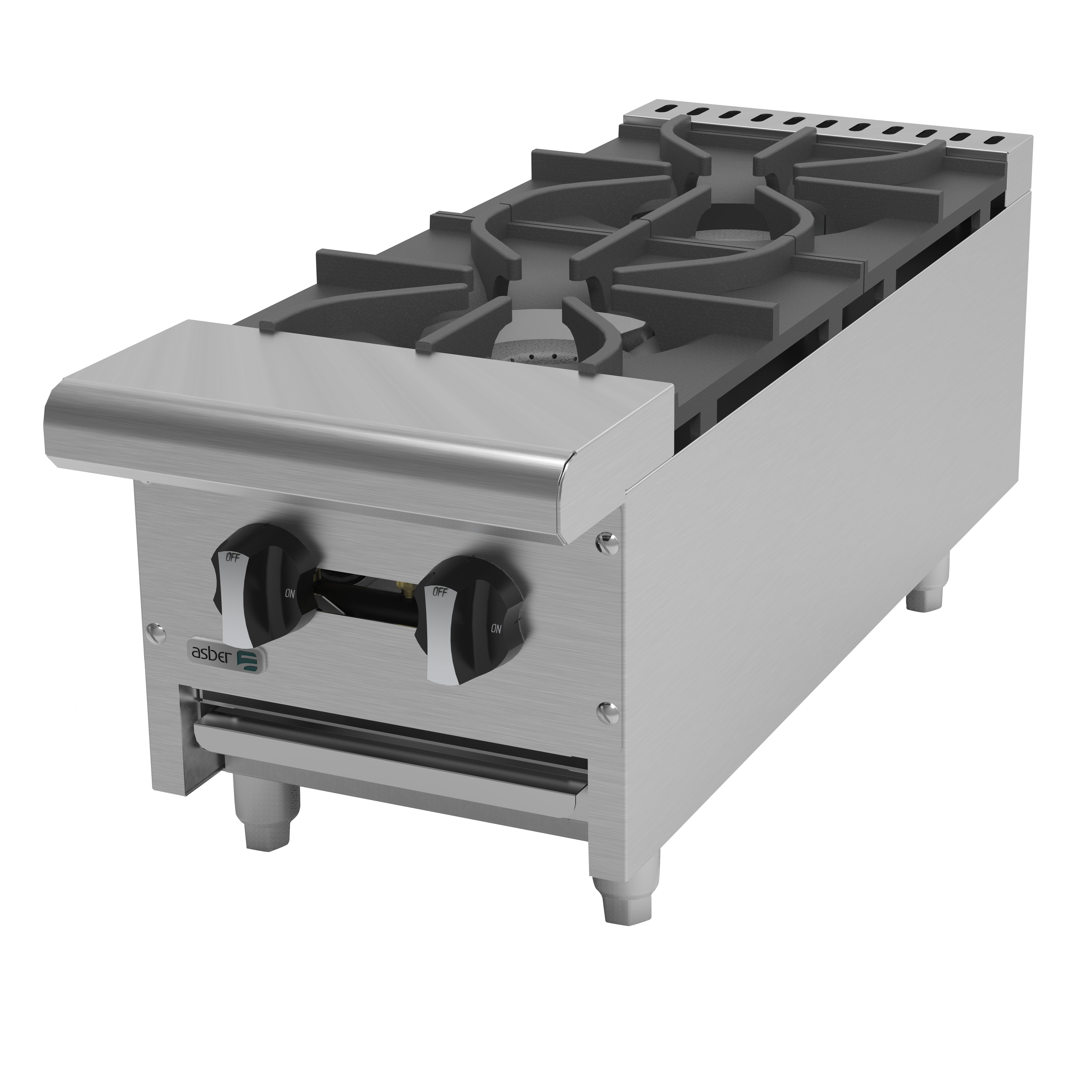 Asber AEHP-2-12 hotplate, countertop, gas