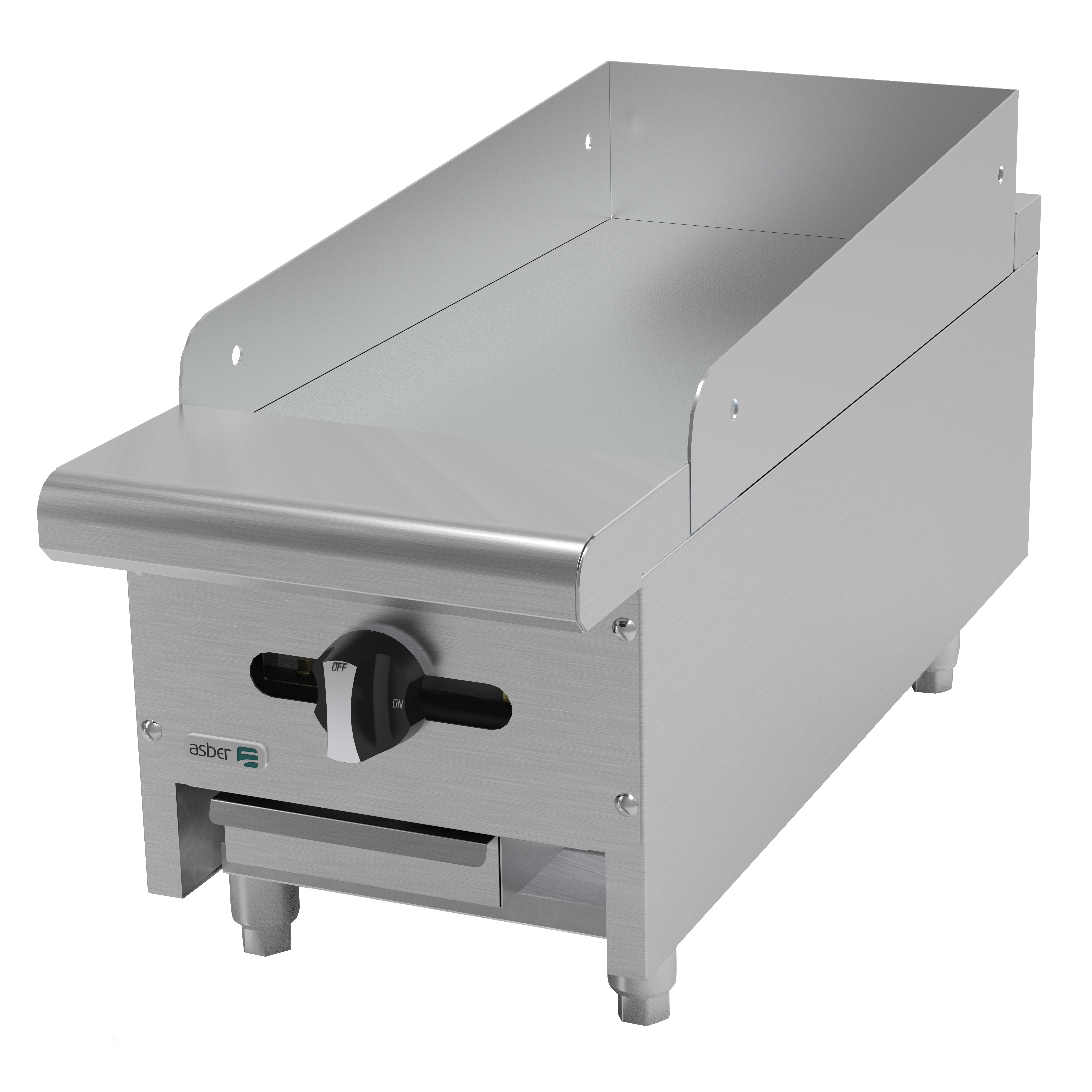 Asber AEMG-12 griddle, gas, countertop