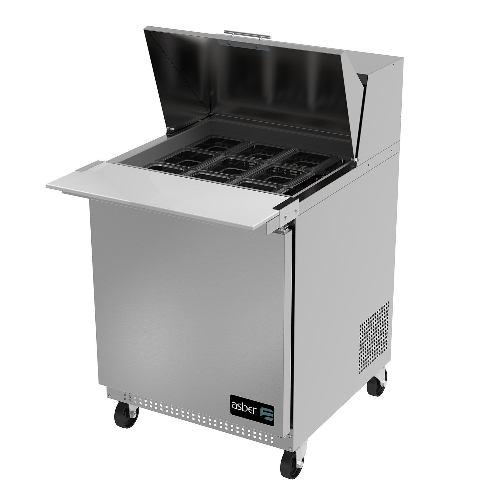 Asber APTM-27-12 refrigerated counter, mega top sandwich / salad unit