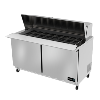 Asber APTM-60-24 refrigerated counter, mega top sandwich / salad unit
