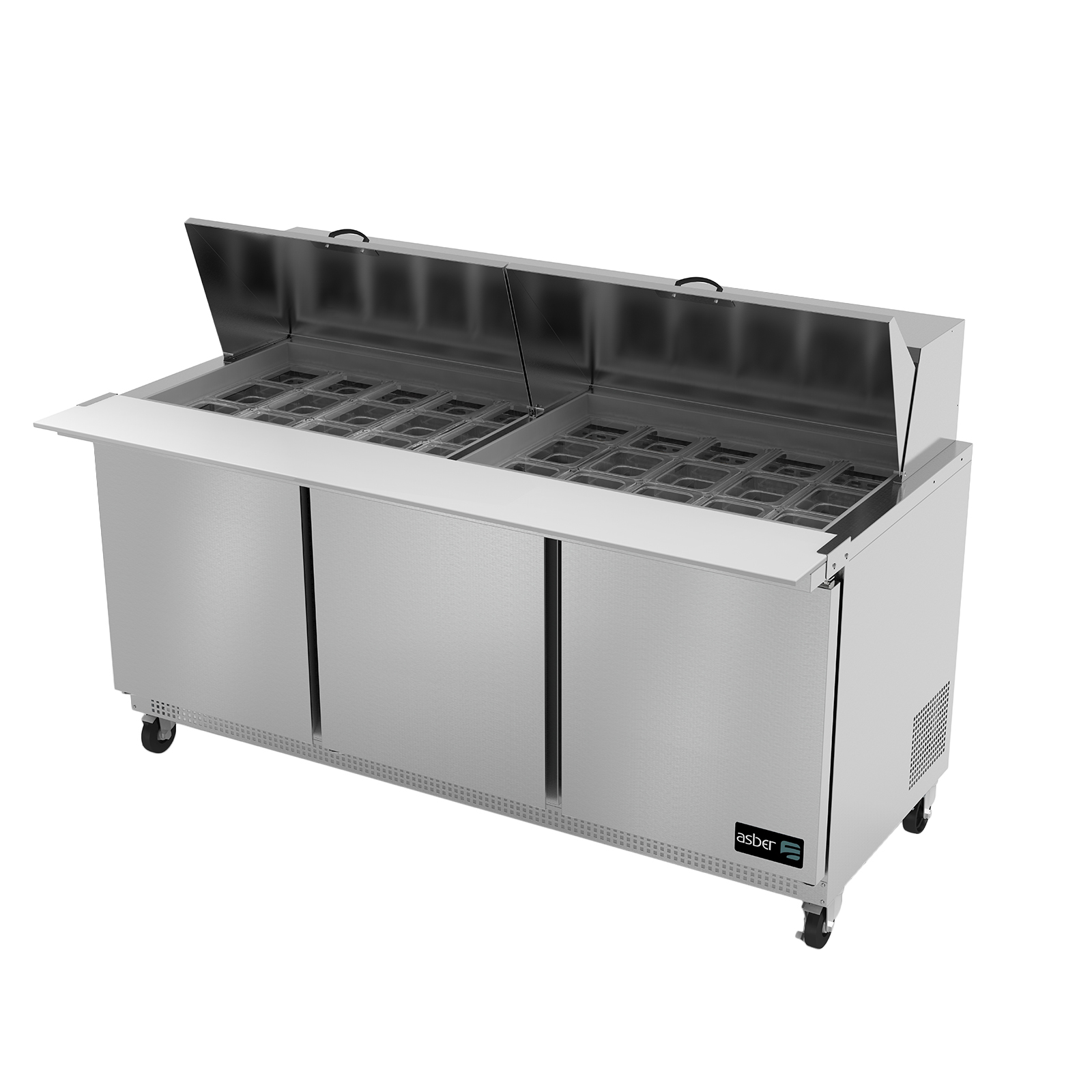 Asber APTM-72-30 refrigerated counter, mega top sandwich / salad unit