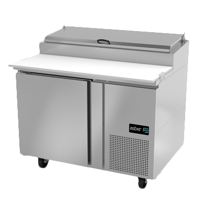 Asber APTP-46 refrigerated counter, pizza prep table